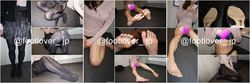 [Image + video] 20-year-old JD-chan's moist black tights! Cold bare feet! Panty! breast!