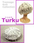 ケーブル模様のベレー帽 Turku 編み図