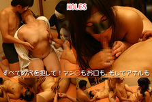 [Female college student gangbang] commit all holes! Challenge three hole gangbang play! : Yuki