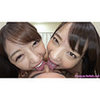 Mikako & Rena - Double Face Nose Licking 1 of 3