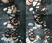 【動画】足裏秘宝館★寿司クラッシュ☆聖香