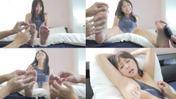 [Tickling soles] Tickle tickling actress Rui Airi's soles & sides & nipples tickling ☆ (Series A 1/6)